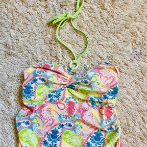 Colorful Tankini Swim Top